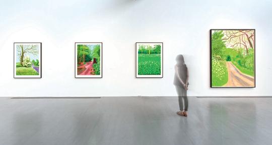 展览现场,2015年,北京佩斯画廊