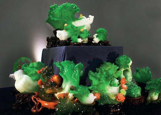 叶甫纳,《玉白菜》,2014年,现成品,尺寸可变