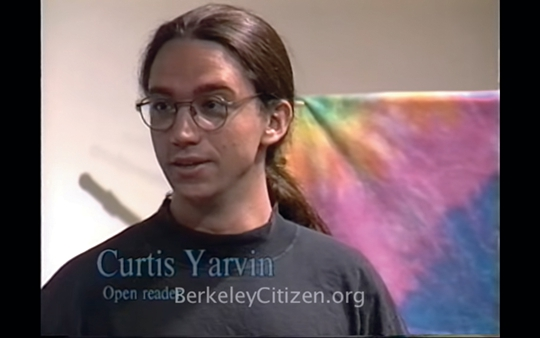 Curtis Yarvin in the open mike portion of the Touch of a Poet series of live readings in Berkeley, California