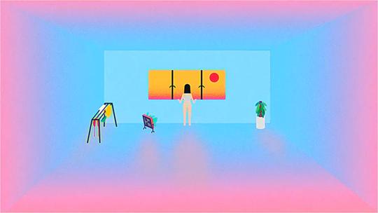 《太阳留住我》,2014年,单频动画,3分48秒