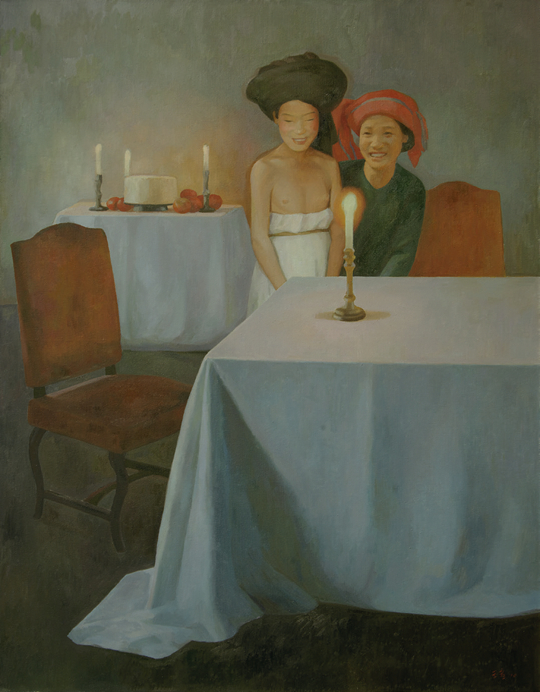 Birthday No. 2, 2008, oil on canvas, 230 x 180 cm