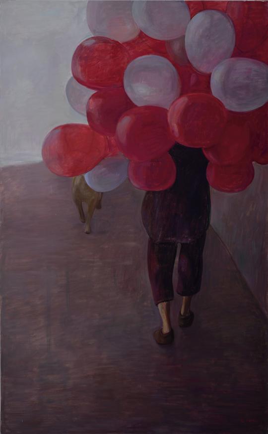 《无题》,2014年,布面油彩,210 × 130 厘米