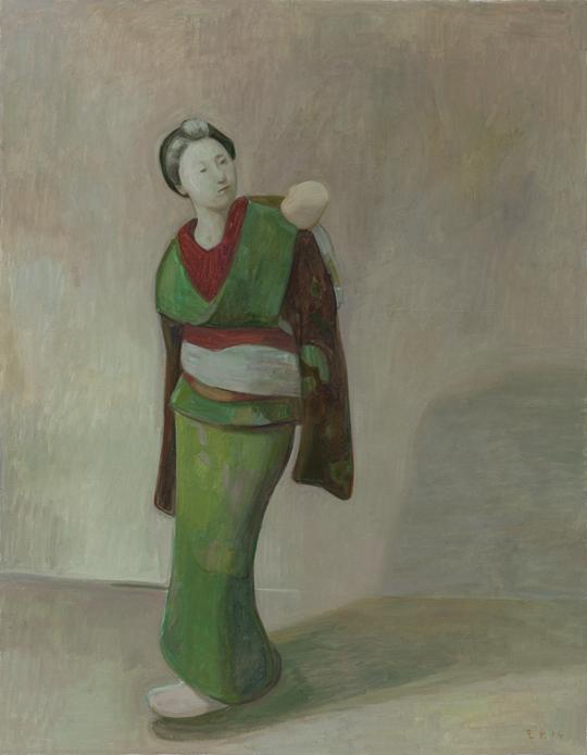 《无题》,2014年,布面油彩,180×140 厘米