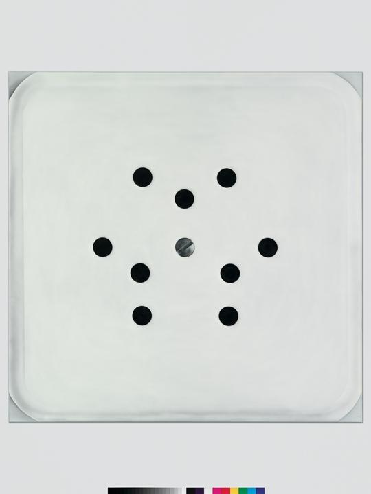 亚娜·尤勒,《能量之源3》,2014年 布面丙烯,210 × 210厘米