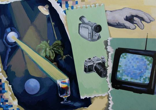 以下是谢南星完成一张绘画会运用的工具。 插图:王不可