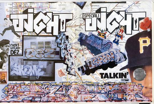 马丁·黄的涂鸦收藏拼贴刊登在《国际潮流时报》上,约1986-1992年间