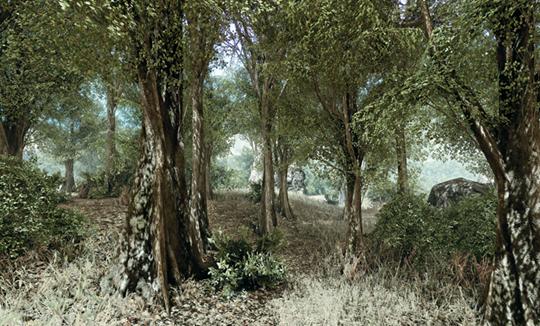 马克·崔博,《锯齿山》(稀土系列),2012年 档案颜料印刷,60.96 × 96.52 × 2.54厘米
