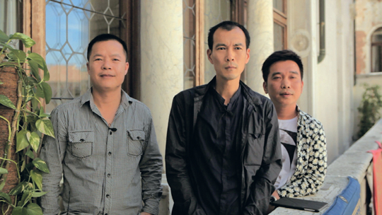 Yangjiang Group (from left: Chen Zaiyan, Zheng Guogu, Sun Qinglin)