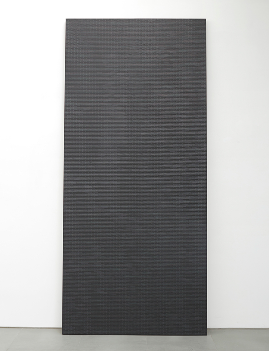 Untitled 2014 Acrylic, canvas, wood support 228.6 x 114.3 cm