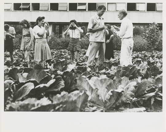 Photography class with Josef Albers, Lake Eden Campus, 1944 Courtesy Western Regional Archives, State Archives of North Carolina