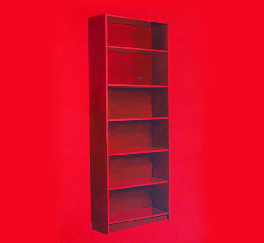 Liu Gangshun, Untitled (Bookcase), 2011, oil on canvas, 95 x 61 cm