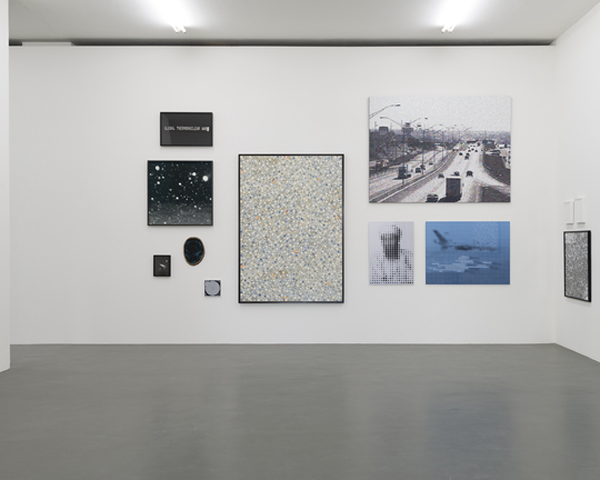 Several works by Douglas Coupland, combined with artworks by Nestor Kruger; Angus Ferguson; Kevin Romaniuk; Ivan Putora; Derek Root; William Betts, photographerCassanderEeftinck-Schattenkerk, installation photo Witte de With Center for Contemporary Art 2015