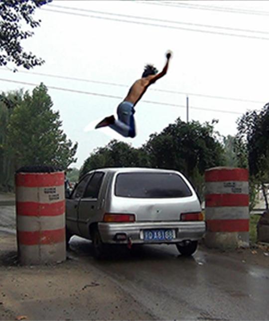 厉槟源, 《跳远练习》, 2015年, 单频录像:6分17秒