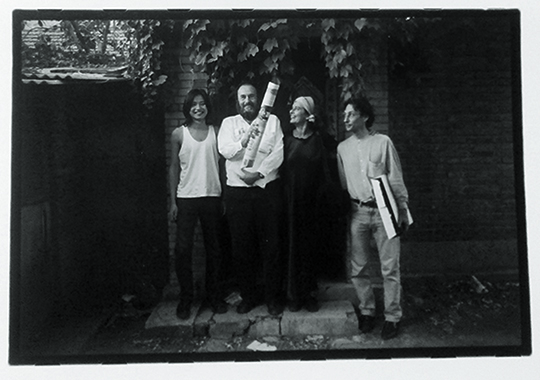 From left: Ma Liuming, Harald Szeemann, Ingeborg, Lüscher, Lorenz Helbling, Courtesy MOMA Museum, of Contemporary Art Chengdu