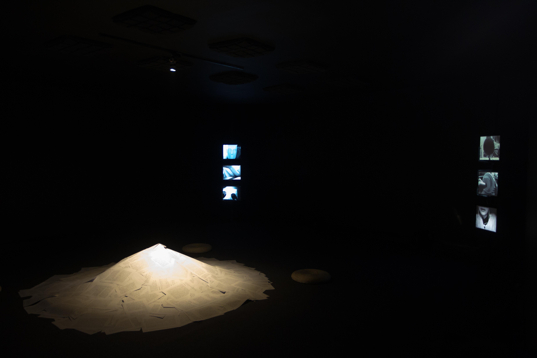 Zafka Zhang, Ruins of Voices, 2015, Sound theatre (installation, video, text, sound), Courtesy OCAT Shenzhen