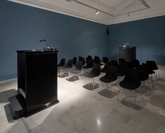 Elmgreen & Dragset Secondary, 2015 Mixed media sound installation Dimensions variable Photo: Eric Gregory Powell Courtesy Helga de Alvear Foundation, Cáceres, Spain