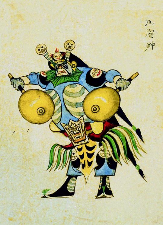 La divinité Juling, esquisse préparatoire pour le film  Le Roi des Singes